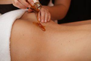 Eine sinnliche Massage.
